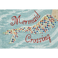 """Mermaid Crossing"" Welcome Mat"