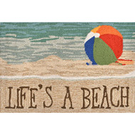 """Life's A Beach"" Welcome Mat"