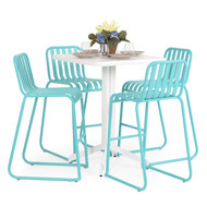 Beach Club 5PC Bar Set Turquoise