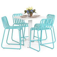 Beach Club 5PC Counter Set Turquoise