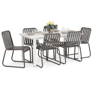 Beach Club 7PC Dining Set  Charcoal