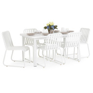 Beach Club 7PC Dining Set Textured White