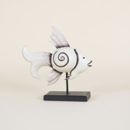 Graceful Fish on Stand with Fossil Finish