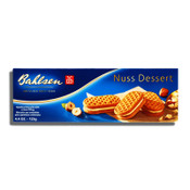 Bahlsen Nuss Dessert Hazelnut Biscuits Filled with Delicious Cream 4.4oz