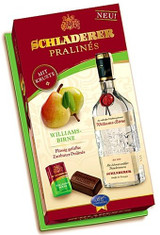 Produced from fresh, fully-ripened fruits by a master distiller, Schladerer fruit spirits have long enjoyed great popularity. Now imagine the finest dark chocolates over a sugar crust and filled with Schladerer Williams Pear Brandy and you have Schladerer Pralinés. . You won't be able to resist. Makes a great gift. For Adults Only! Must be 21 years of age or older to purchase this item.