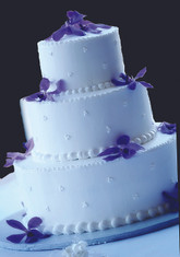 Swiss Dot Cluster Wedding Cake
