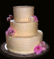 Polka Dot and Combed Wedding Cake