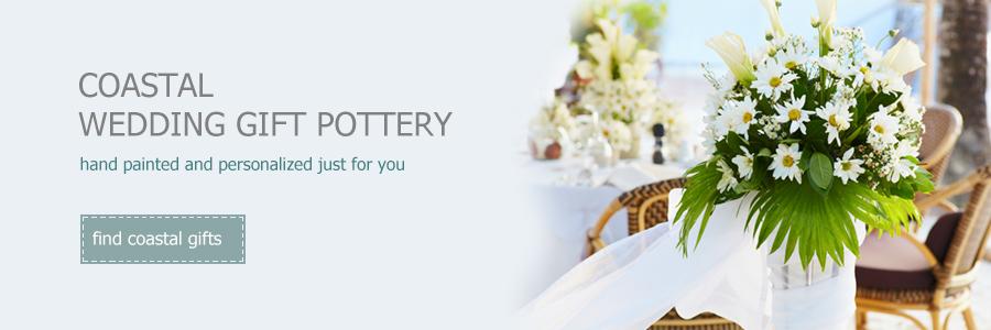 personalized coastal wedding gift pottery by Museware Pottery