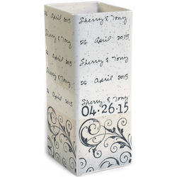 Scroll Cursive Wedding Vase