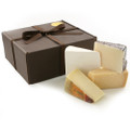 Our Formaggio Pacchetto Regalo, each cheese will come vacuum packed and labeled with a small basket and raffia bow for presentation.