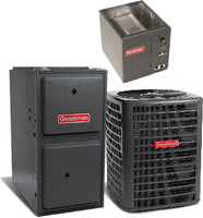 Goodman 5 ton 14 seer 96% 80K Btu Gas Furnace System(Upflow/Vertical or Horizontal)