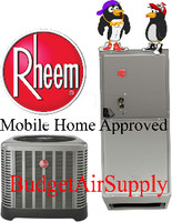 Rheem Mobile Home Approved 3 ton 15 Seer A/C with Electric Heat Split system