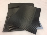Carbon Fiber Scraps  Various Sizes and Thicknesses -1/2 lb.