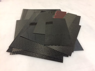Carbon Fiber Scraps  Various Sizes and Thicknesses - 1 lb.