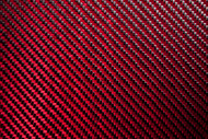 Red Carbon Fiber/Kevlar Fabric – 3k, 2x2 Twill