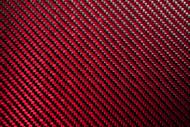 """Red Carbon Fiber/Kevlar High Gloss Sheet - 24"""" x 24"""" – .25mm"""