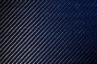 """Blue Carbon Fiber/Kevlar Gloss 12""""x12""""x .25mm (305mm x 305mm)"""