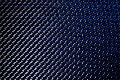Blue Kevlar Carbon Fiber Gloss 4 X4 X 5mm 102mm X 102mm