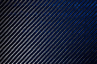 "Blue Carbon Fiber/Kevlar Gloss 6""x12""x .5mm (152mm x 305mm)"