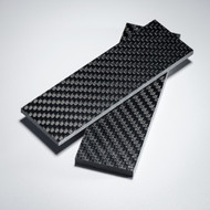 "Twill Weave Carbon Fiber Knife Scales - .125"" Thick (Set of 2)"