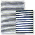 "#63248 Varnished Papers, ""Blue Stripe"" A slightly wavy, cobalt blue stripe is alternated with the varnished white pulp.  Stripe is handpainted, giving the paper a very hand created look!.   Varnish creates a translucent effect when light is behind the paper."