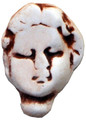 "00028 Theater Porcelain Face, ""Bernadette"" ""Bernadette"" is quite impressed with herself (sh'es considering her own reality show).  She measures 1-1/4"" wide and 1-3/4"" high (that long willowy neck she's so vain about)"