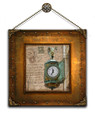 "Chicago's Father Time Clock Jewelers' Building 14"" x 14"""