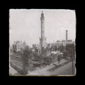 """Water Tower - 4x4"""" cork backed marble coaster"""