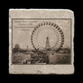 "Ferris Wheel - 4x4"" cork backed stone coaster"