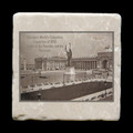 "Statue of the Republic and the Peristyle - 4x4"" cork backed stone coaster"