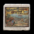 "Columbian Exposition Pop Up Book Cover - 4x4"" cork backed stone coaster"