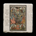 "The International Guide to the World's Columbian Exposition - 4x4"" cork backed stone coaster"