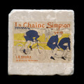 "La Chaine Simpson - 4x4"" cork backed stone coaster"