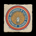 """Electrical Workers - 4x4"""" cork backed stone coaster"""
