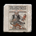 "The Saturday Evening Post  25 December 1920 - 4x4"" cork backed stone coaster"