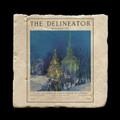 "The Deliniator  December 1925 - 4x4"" cork backed stone coaster"