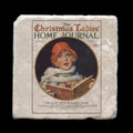 """The Christmas Ladies' Home Journal  December 1926 - 4x4"""" cork backed stone coaster"""