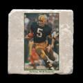 "Paul Hornung 1965 NFL Championship - 4x4"" cork backed stone coaster"