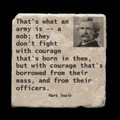 """That's what an army is - 4x4"""" cork backed stone coaster"""