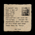 "I cannot see how a man of any large degree - 4x4"" cork backed stone coaster"