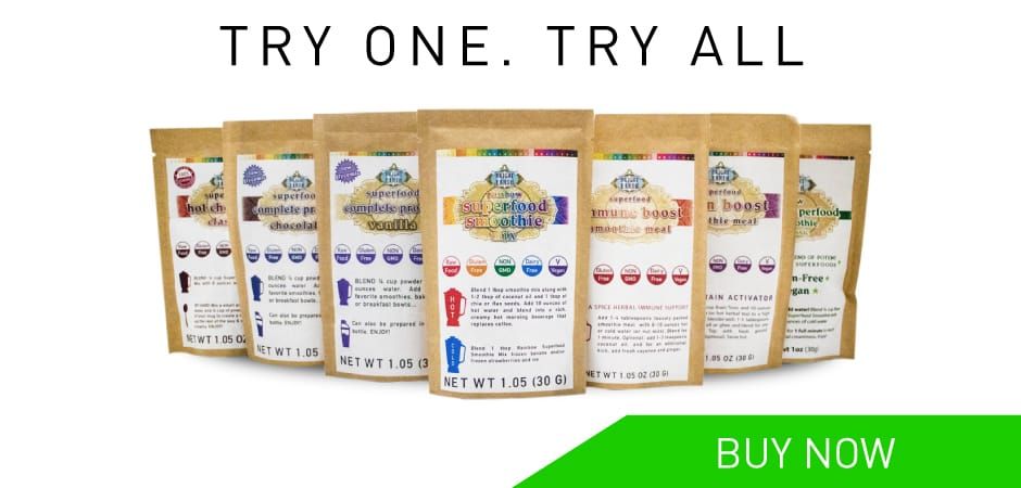New! Bright Earth Foods raw vegan superfood smoothie sample pack.