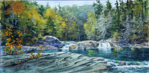 Upper Linville Falls original painting by Luke Buck