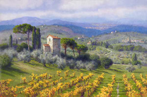 Above Florence, June Carey  MASTERWORK CANVAS EDITION