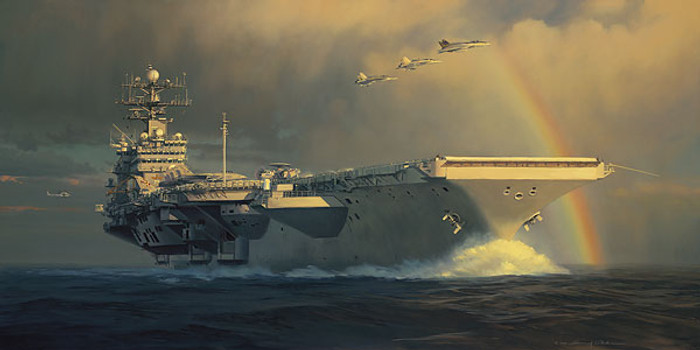 Out of the Squall Line, William S. Phillips MASTERWORK CANVAS EDITION