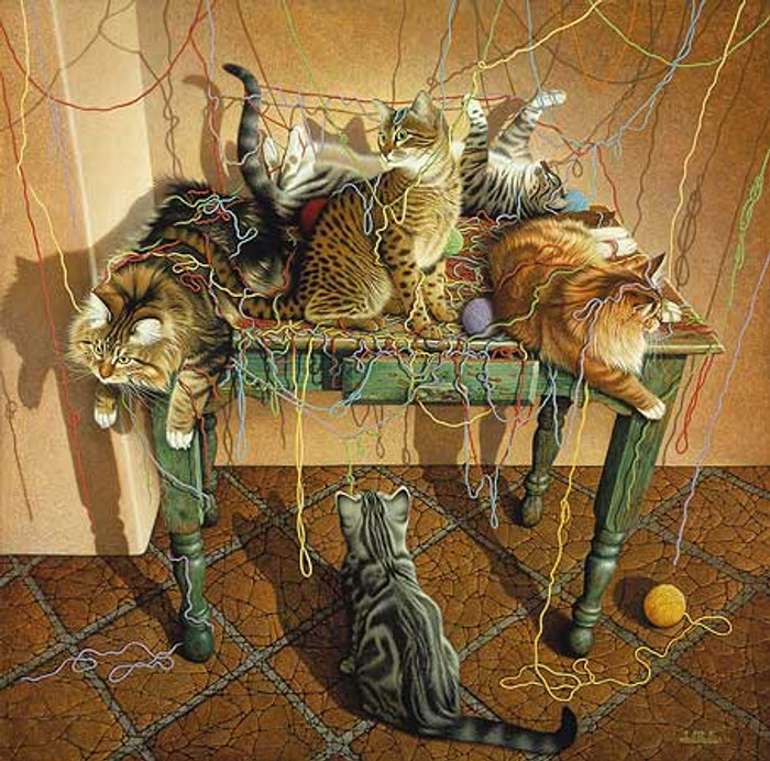 TABLE MANNERS, by Braldt Bralds LIMITED EDITION PRINT