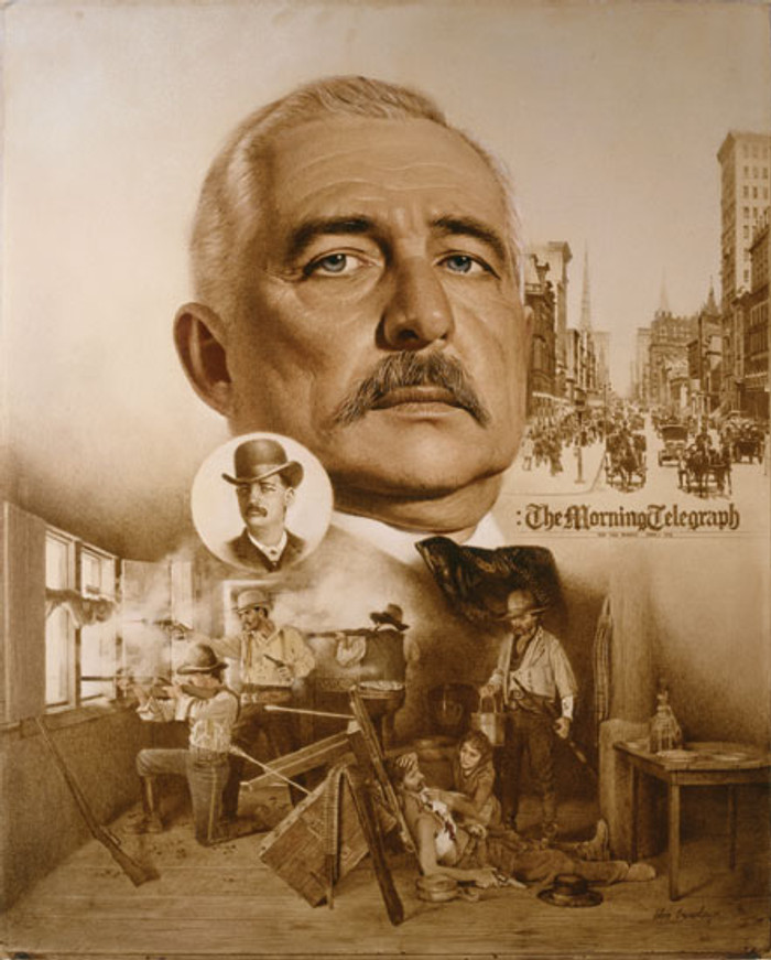 Bat Masterson: Two Worlds of Bat Masterson, by Simon Combes LIMITED EDITION CANVAS