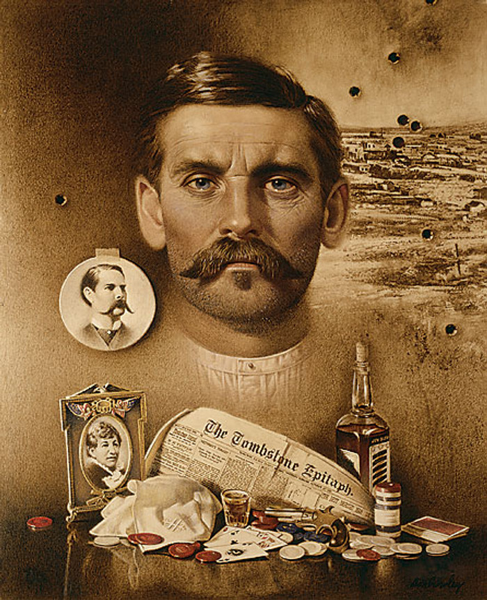 "Doc Holliday: ""Well I´ll be Damned!"", by Don Crowley LIMITED EDITION CANVAS"