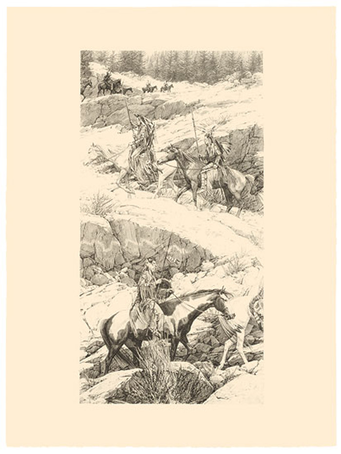 Shoshone Switchback, by Bev Doolittle ORIGINAL STONE LITHOGRAPH
