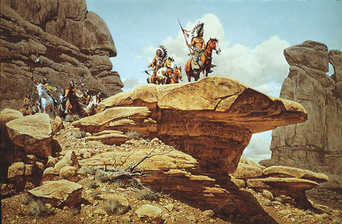 The Hostiles, by Frank C. McCarthy ANNIVERSARY EDITION CANVAS