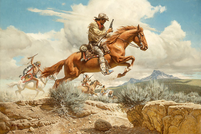 Pony Express, by Frank C. McCarthy ANNIVERSARY EDITION CANVAS